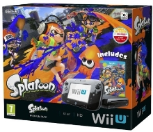 Nintendo Wii U Premium Pack Black 32GB + Splatoon