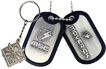 Keychains, Dog tags