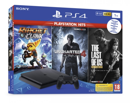 Sony PlayStation 4 Slim 1 TB Playstation Hits Bundle