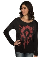 Jinx World of Warcraft Sign of the Horde Long Sleeve Women T-shirt - size  M