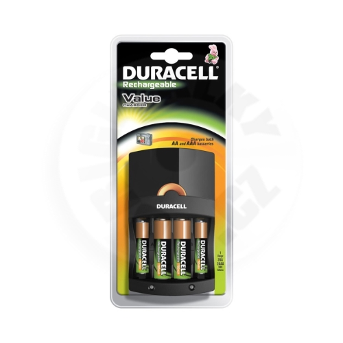 Duracell Rechargeable Value Charger + 2xAA + 2xAAA