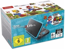 New Nintendo 2DS XL Black & Turquoise + Super Mario 3D Land