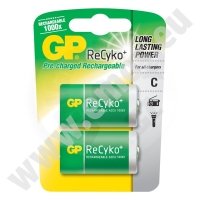 GP Recyko+ R14 Pre-charged Rechargeable Battery C 3000mAh 1,2V