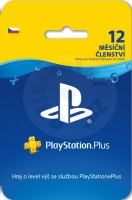 Sony PlayStation Plus - 12 months membership - Only for Czech PSN Accounts