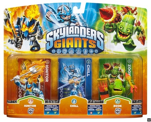 Skylanders: Giants - Triple Pack (Chill +  Zook + Ignitor)
