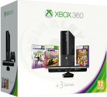 Microsoft Xbox 360 E 4GB Kinect Bundle + Forza Horizon + Kinect Sports & Adventures