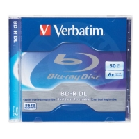 BD-R Verbatim, 50GB, 6x, DL LTH, Recordable/Enregistrable